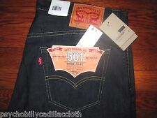 LEVI'S 501 BUTTON FLY ORIGINAL SHRINK TO FIT STRAIGHT LEG SELVEDGE JEANS 40x34