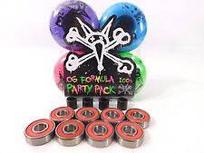 BONES 100'S OG Formula Skateboard wheels 52mm + Free Abec7  Bearings and Spacer