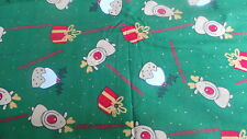 100% cotton reindeer christmas  fabric PRICE PER 1/2 yard