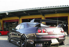 Pop Carbon Bee-R GT Spoiler Wing For Nissan Skyline R33 GTR Fit GTR Rear Base