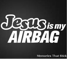 JESUS IS MY AIRBAG Funny Car Window Bumper JDM VW VAG EURO Vinyl Decal Sticker