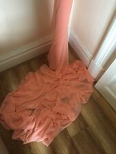 "50 MTR QUALITY PEACH COLOUR CHIFFON FABRIC...45"" WIDE £100 SPECIAL OFFER"