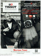 PUBLICITE ADVERTISING 125  2011  TISSOT  montre  RACING TOUCH avec TONY PARKER
