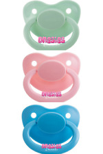 Adult Pacifier Triple Pack - Mint Green, Baby Pink & Baby Blue | ABDL DDLG