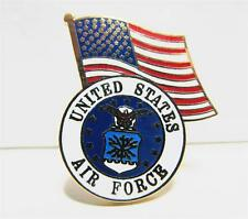United States Air Force Logo USA Flag Lapel / Hat Pin USAF