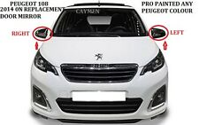 PEUGEOT 108 DOOR Wing Mirror MANUAL RH OR LH PRO PAINTED ANY PEUGEOT COLOUR
