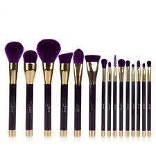 Jessup 15Pcs Darkviolet Makeup Brushes Cosmetic  Foundation Make Up Brush Set US