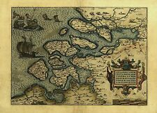 Reproduction Abraham Ortelius Zelandia Netherlands Holland Old Map Poster NEW