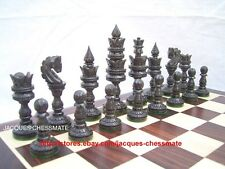 RARE EBONY WOOD FINE HANDMADE HANDICRAFT CHESS SET - FREE SHIPPING!!!!!!