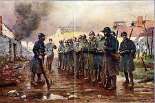 L'APPEL APRÈS LA BATAILLE * aquarelle de Berne-Bellecour * War Artist * WW 1
