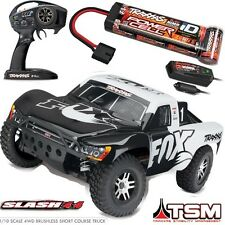 Traxxas 68086-3 1/10 Slash 4X4 Brushless Short Course Truck TSM 4WD RTR FOX