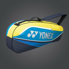 100% YONEX 3 Tennis/4 Badminton Racket Racquet Bag 7523EX 161_Blue/Yellow