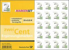 Markenset Ergänzungsmarken 2 Cent - selbstklebend - Ausgabetag 05.12.2013 - 3045