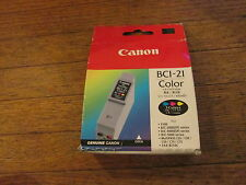 Lot of 4 Genuine Canon BCI-21 Color Ink Cartridges