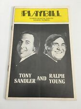 Rare Vintage Playbill Tony program Sandler and Ralph Young
