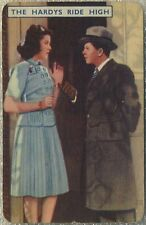 Ann Rutherford + Mickey Rooney 1939 Film Fantasy Game Card THE HARDYS RIDE HIGH