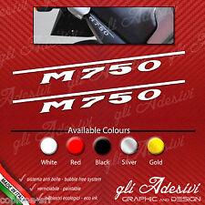 Coppia adesivi Ducati Monster M 750 M750 per fianchetto