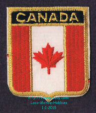 LMH PATCH Woven Badge  CANADA  Red Maple Leaf  CANADIAN FLAG  Crest Logo Tribar
