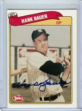 New York Yankees HANK BAUER D 8x World Series 1989 SWELL signed autographed card