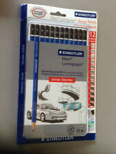 NEW Staedtler MARS LUMOGRAPH Pencil Set (12) #100 G12 DESIGN & DRAFTING SEALED