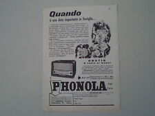advertising Pubblicità 1958 RADIO PHONOLA MOD. 679