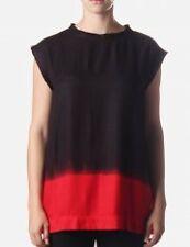 BNWT DIESEL T-LYDY-B WOMEN'S TANK TOP BLACK/RED SZ L T-SHIRT