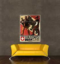 GIANT PRINT POSTER GUN SHOOTING FESTIVAL BERNE SWITZERLAND SWISS ARMY PDC088