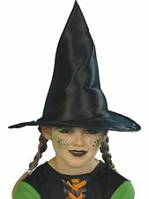 Child Kids Black Witch Fancy Dress Costume Accessory Halloween Witches Hat 23122