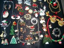 LOT OF VINTAGE/NOW COSTUME JEWELRY CHRISTMAS/HOLIDAY PIECES GREAT BROOCHES  & MO