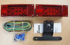 12V LED Submersible Trailer Light Kit Multi-Function Tail Lights DOT