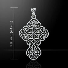 Brigid Ashwood Celtic Cross .925 Sterling Silver Pendant by Peter Stone