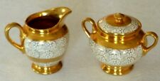 Vintage L B Royal Creamer & Sugar Bowl  22 Karat Gold Lusterware England UK