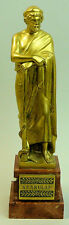 A FINE ANTIQUE GILDED BRONZE CLASSICAL FIGURE 'AESKULAP' SIGNED H.MULLER