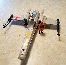 Vintage 1978 Star Wars X-Wing Fighter Vehicle & Pilot COMPLETE .