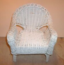 """DOLL SIZE RATTAN ARM CHAIR, FITS SEVERAL SMALL DOLLS or 12""""-16"""" DOLLS OR TEDDYS"""