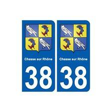 38 Chasse-sur-Rhône blason autocollant plaque ville arrondis
