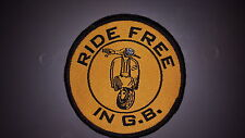 """Ride Free in GB"" Scooter Patch"