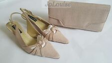 Jacques Vert Shoes & Clutch Bag  ~ Size UK 4 ~  Beige Cookie Range