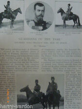 Guardians of the Tsar Russia Cavalry Cossack Peterhof Old Victorian Article 1899