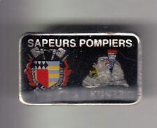 RARE PINS PIN'S .. POMPIER FIRE BLASON ARM HACHE CASQUE KUNTZIG MOSELLE 57 ~CZ