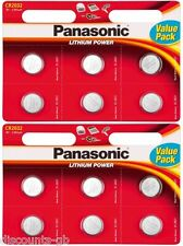 12 x Panasonic CR 2032 3Volt Lithium Coin Batteries 3V, PC, Bell, Remote Battery