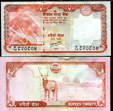 NEPAL 20 RUPEES 2010 P 62 NEW SIGN 19 UNC