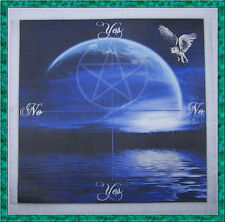 Owl & Moon Scrying/Dowsing Mat ideal for use with a pendulum, Wicca divination