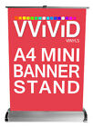 Retractable Mini Table Top Banner Stand 8.5