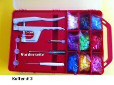 KOFFER Starterset #3r: 15x20 =300 Snaps & Zange geeignet für BabySnap®,KamSnaps