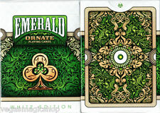Ornate White Emerald Deck Playing Cards Poker Size USPCC Custom Limited Sealed