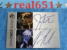 2001-02 SP Sign of the Times Dual Auto JOE THORNTON | VINCENT LECAVALIER /150