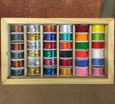 36 Spools of Fly Tying Floss, Thread, Tinsel, Wool and Copper, Lead Wire