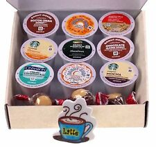 Coffee Lovers Gift Box Flavored K Cups Chocolate Buckeyes Latte Magnet 15 Pc Set