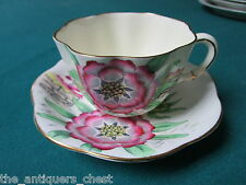 1940s  Vintage teacup  saucer Bone China Taylor Kent Longton England 6786A[*109]